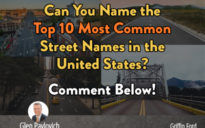 10 Most Common Street Names